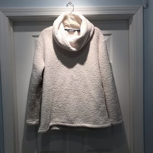 Lands' End | Sherpa Fleece Winter White Pullover